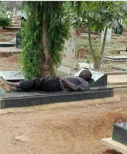 Young boy allegedly runs mad after spending 10 nights sleeping in a graveyard (Photo)