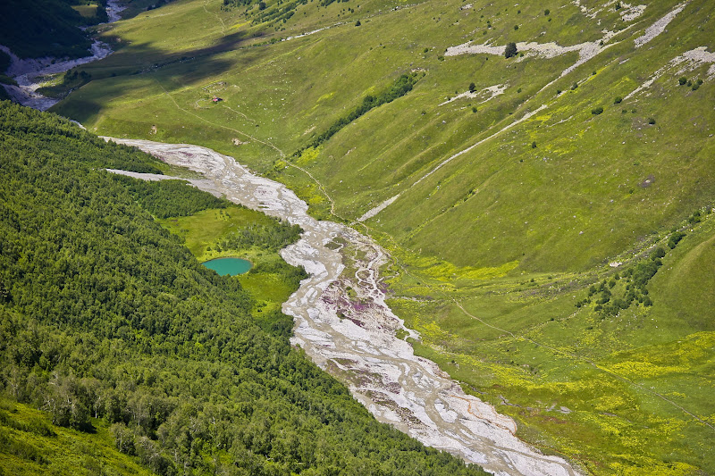 Река Адишичала сверху