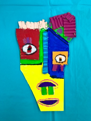 585ba6290 Pencils Scissors Rulers Oil Pastels Paint Brushes Water Cups Sketch Paper  to get ideas on. Examples and resources for Pablo Picasso Cubist Faces