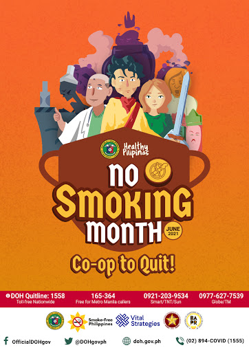 June is No Smoking Month in the Philippines
