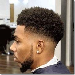 Taper fade black hair men