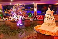 Fotos de decoração de casamento de Casamento Alessandra e Raphael no Clube Piraquê Salão Capitânia da decoradora e cerimonialista de casamento Liliane Cariello que atua no Rio de Janeiro e Niterói, RJ.