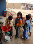 Washing Hands at USDA School (Alta Trujillo, Peru)
