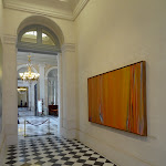 Assemblée nationale : corridor Pujol, au mur, oeuvre d'Olivier Debré intitulée « Les Tilleuls »