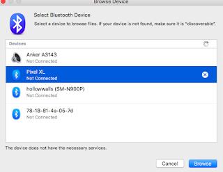 Trouble pairing my Google Pixel XL and MacBook Air via