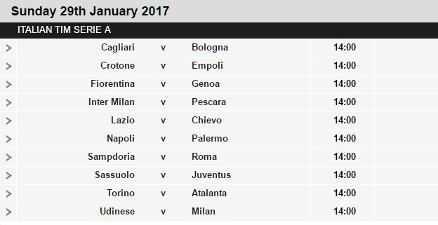 Serie%2BA%2Bschedule%2B22 Planning a Football Trip to Italy - SERIE A FIXTURES 2016/17
