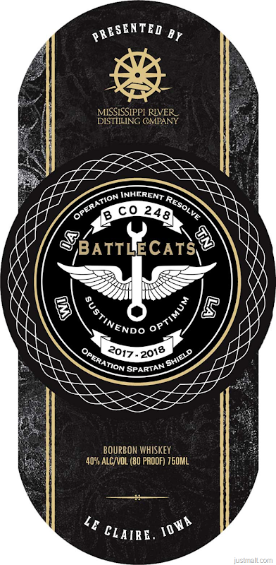 Mississippi River Distilling Battlecats Bourbon Whiskey