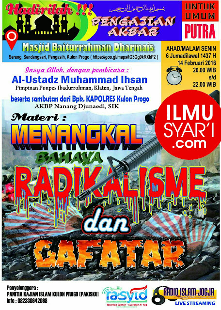 [AUDIO] Menangkal Bahaya Radikalisme dan Gafatar - Ustadz Muhammad Ihsan