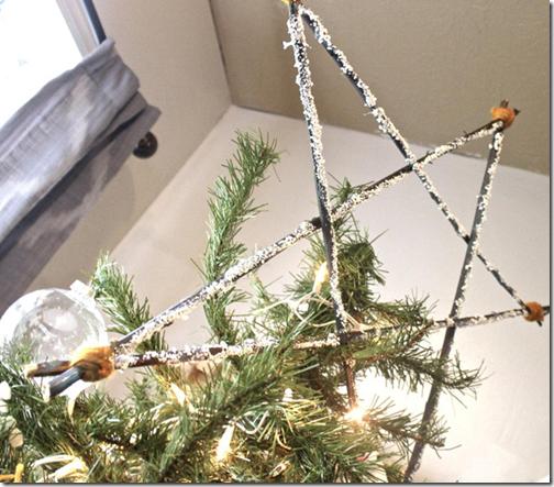 Ramas secas  adorno para la punta del árbol de Navidad