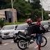 VÍDEO MOSTRA JOVENS QUE CAEM DE MOTO EM ACIDENTE GRAVE EM MANAUS