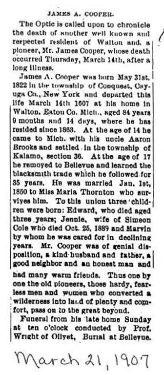 COOPER_James A_Obit_21 Mar 1907