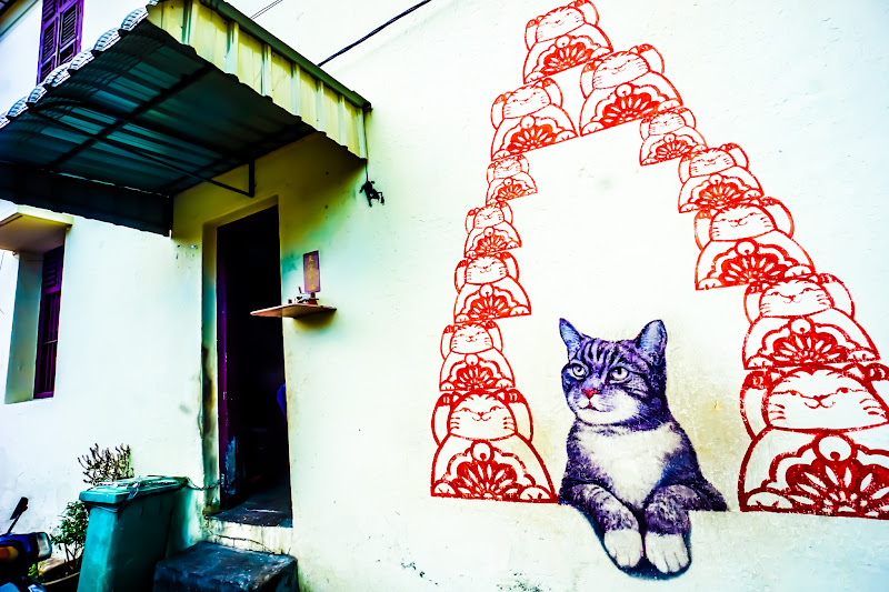Penang George Town Street Art Love Me Like Your fortune Cat1