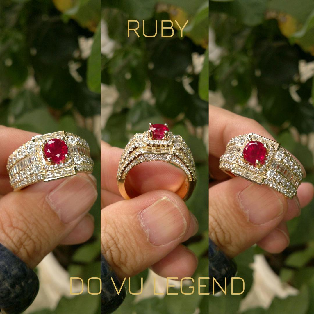 Nhẫn Ruby xoàn tấm