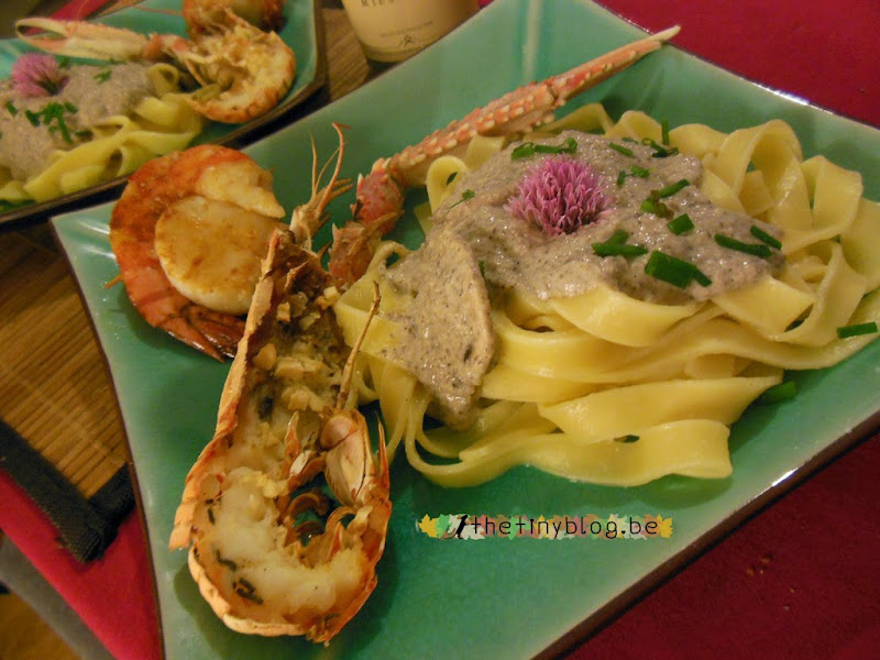 Lobsters, Prawns, Scallops and Mushrooms Tagliatelle