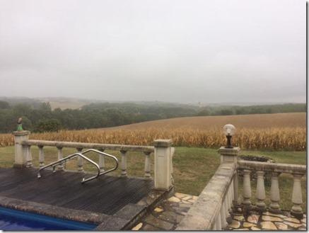 landschap in regen