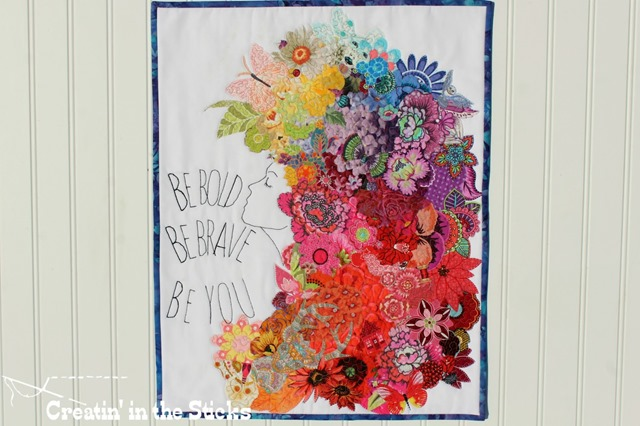 Be You quilt for project quilting 9.3 by Carla at Creatin' in the Sticks