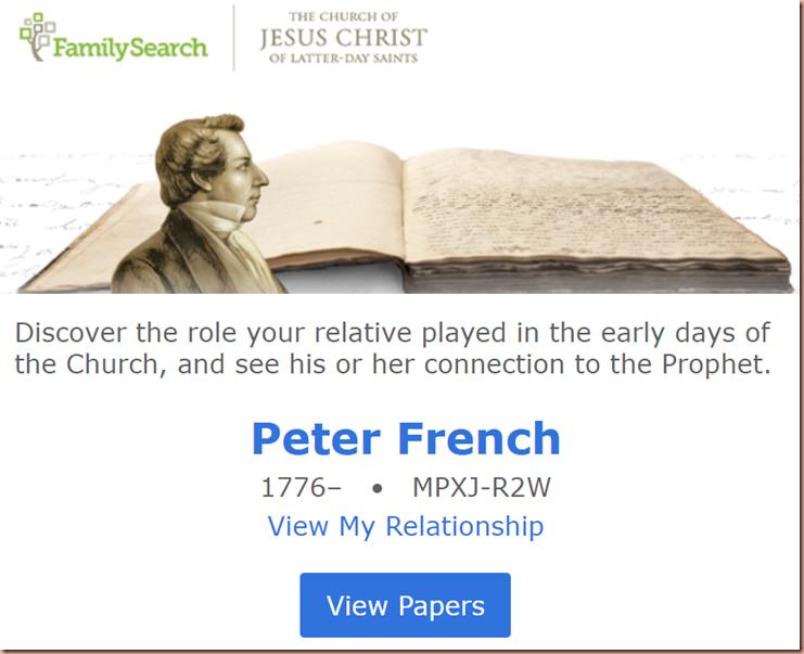 Joseph Smith Papers Relative