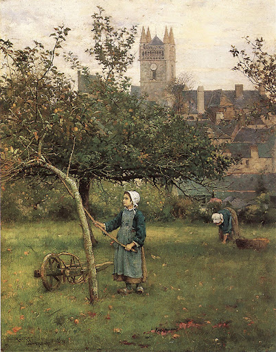 Walter Frederick Osborne - Apple Gathering