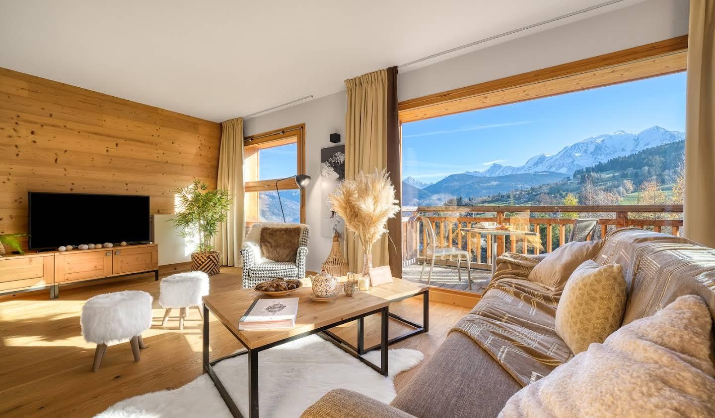 Chalet avec vue panoramique et terrasse Combloux