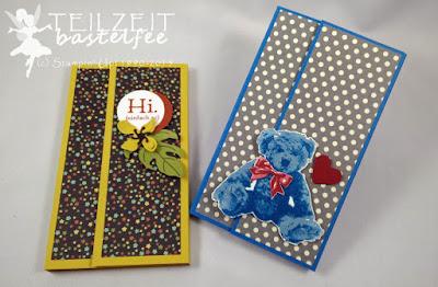 Stampin' Up! - Unentbärliche Grüße, Baby Bear, Notizblock, note pad, tutorial, Anleitung