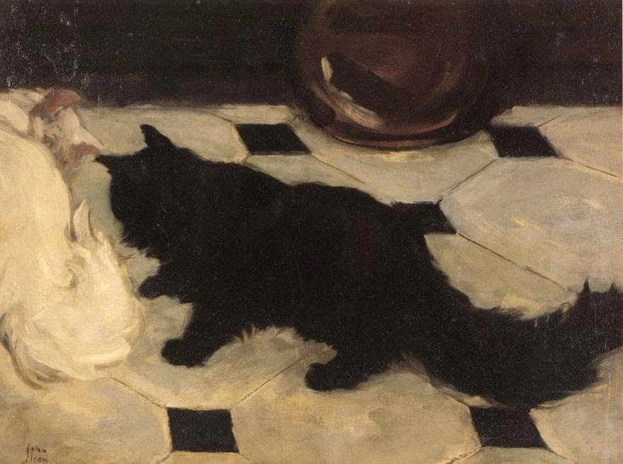 John Sloan - Green's Cat