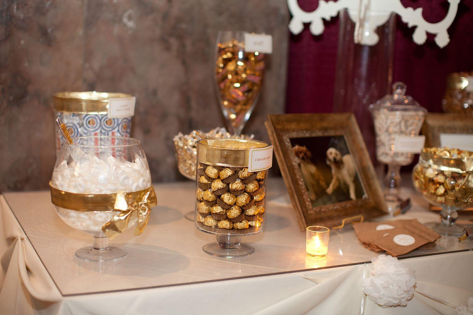and White Candy Buffet