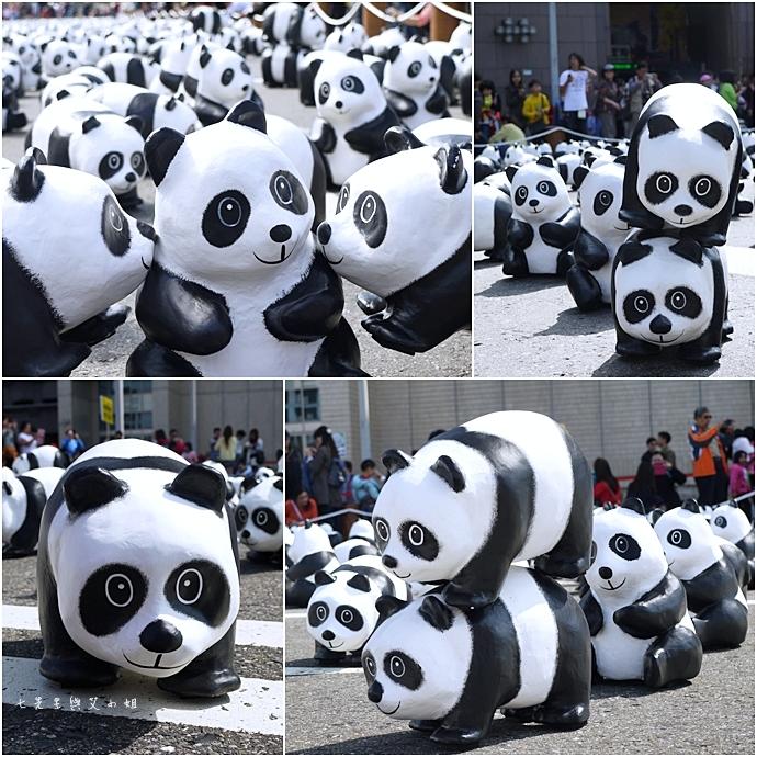 4 紙貓熊 1600貓熊之旅-台北 0224 台北市政府廣場展覽