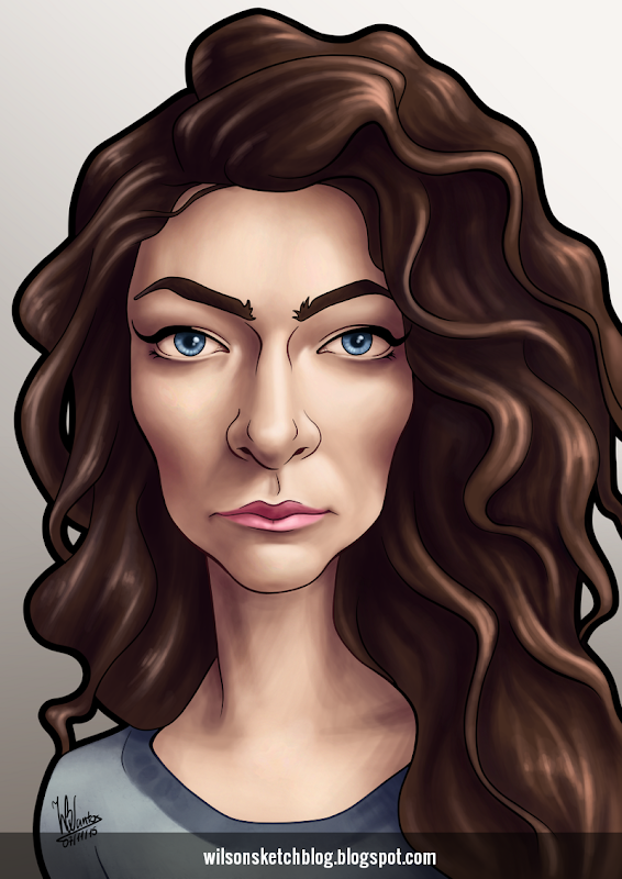 Caricature of Lorde.