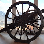 world war I canon at the kaiserjagermuseum in Innsbruck, Tirol, Austria