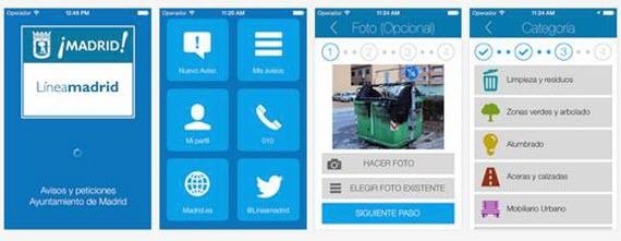 Aplicación móvil para notificar incidencias en calles y parques de Madrid