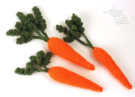 Amigurumi Vegetables : Amigurumi fruits and veggies play set bubanana