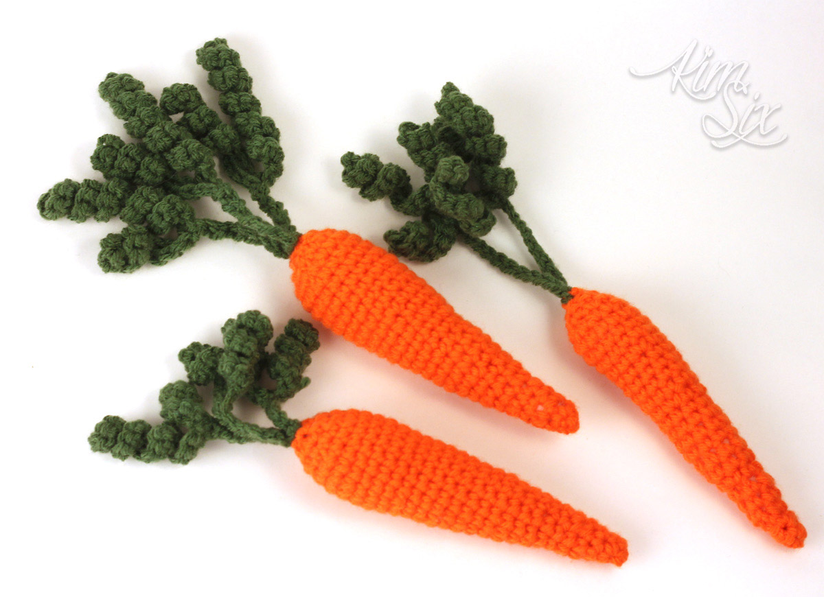 Crochted amigurumi carrots