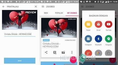 memakai bunyi dan gambar background sendiri sekarang tidak akan sulit lagi Cara Membuat Video Animasi Zoobe di Android