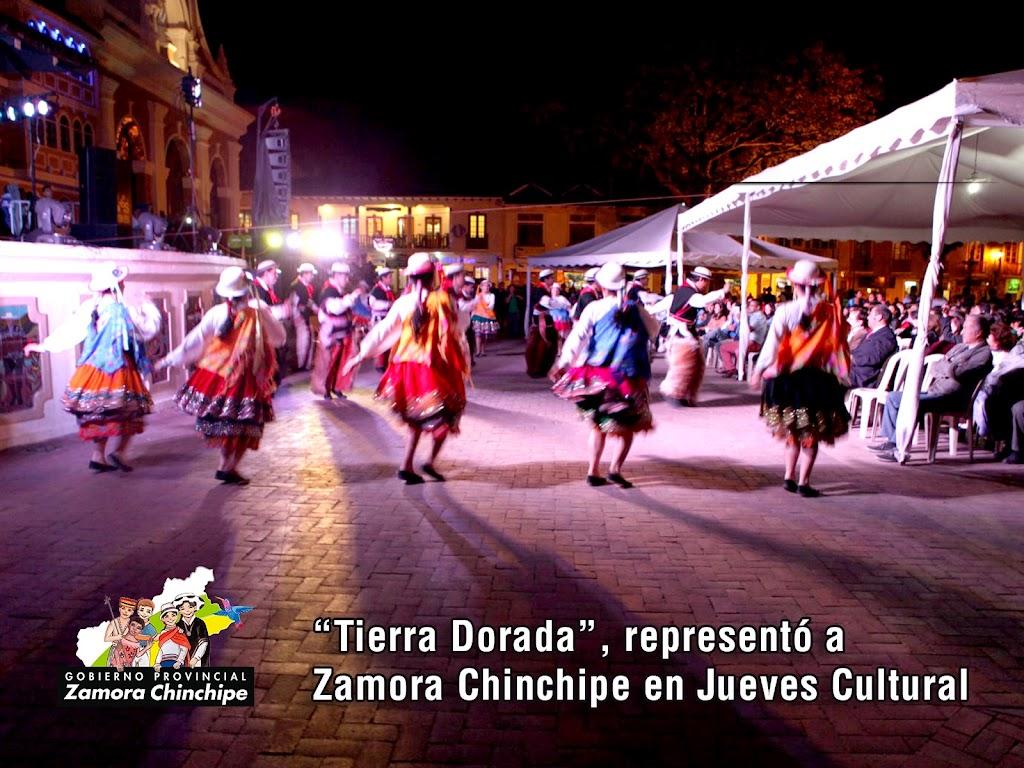 """TIERRA DORADA"", REPRESENTÓ A ZAMORA CHINCHIPE EN JUEVES CULTURAL"