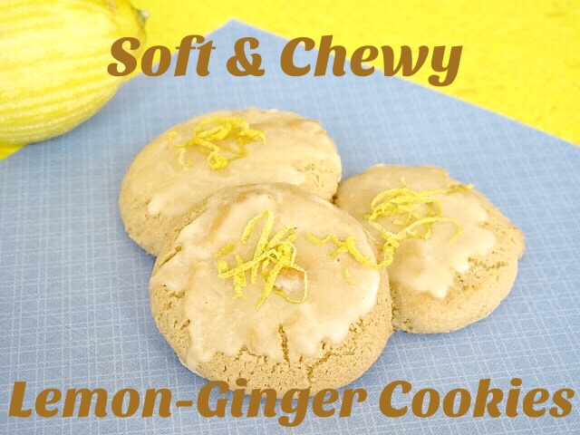 Simply Healthy Family: Soft Ginger-Lemon Cookies with Lemon Glaze