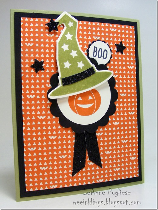 LeAnne Pugliese WeeInklings TSOT238 Howl-o-ween Boo Stampin Up Halloween