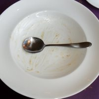Empty xmas pud plate