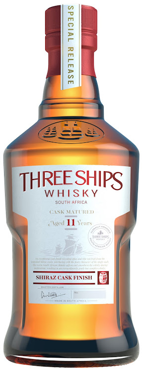 The 11-year-old, single-malt Shiraz Cask Finish. Picture: SUPPLIED/THREE SHIPS WHISKY