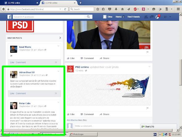 Pagina de facebook ANAF a fost transformată în PSD online