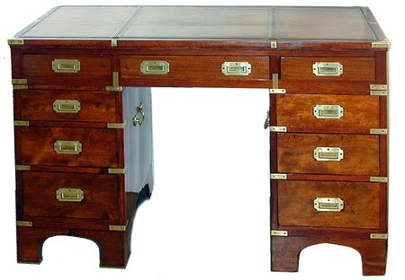 Campaign Desk From The 1820s   Note The Handles On The Sides To Carry Each  Section (The Buzz On Antiques)