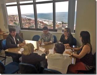 Reunião entre a FECAM, FEMURN e TCE