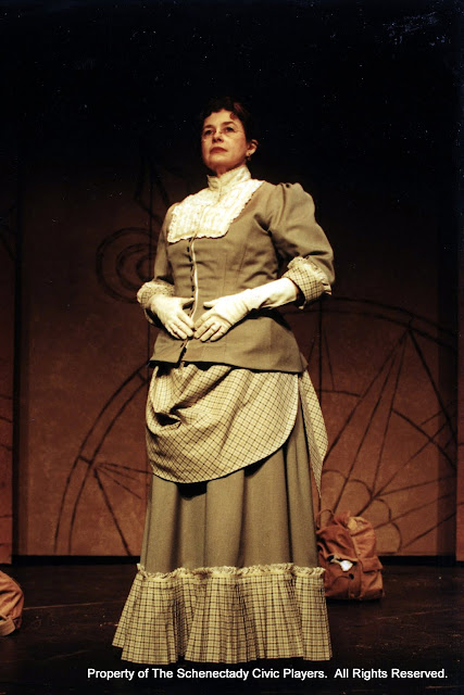 Rita Russell in ON THE VERGE - January/February 2000.  Property of The Schenectady Civic Players Theater Archive.