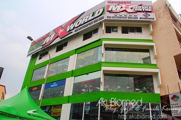 Premis perniagaan Kawasaki MX World - CBK Motor Sport