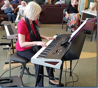 Mary Barrett playing her brand new Korg Pa4X (76 note version).
