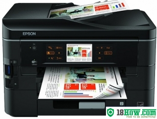 How to reset flashing lights for Epson BX535WD printer