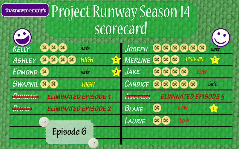Fantasy Project Runway Season 14 Scorecard - Lace to the Finish (14x06)