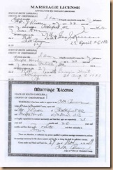 George Rivers' Marriage License