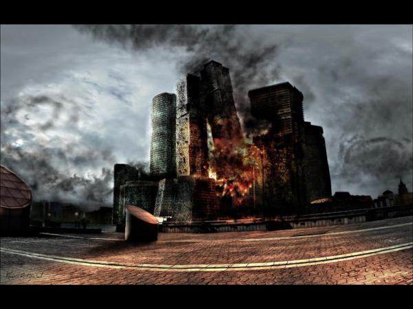Citadel In Fire, Magical Landscapes 1