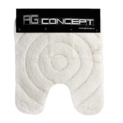 Коврик для унитаза Ag concept 50х60 см круги белый