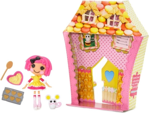 mini Lalaloopsy Crumbs Sugar Cookie, con su mascota, accesorios y su casita (caja)